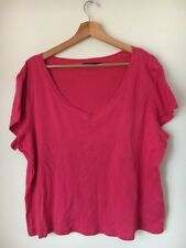 T-shirt Pink Size 22 V Neck Cotton F&F <T14117
