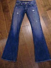 Women's Rock & Republic Factory Destroyed Wash Flare Leg Denim Jeans Size 8 AP9