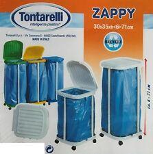 Tontarelli Pattumiera Reggi Sacco immondizia Zappy con Ruote colori assortiti