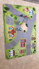 Puzzle Mat With Two Wooden Cars,stop And Light Signals