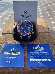Kienzle Poseidon Pepsi, große Herrenarmbanduhr, 15 ATM wasserdicht, Quarz