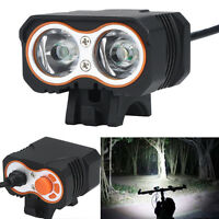 4 Modes 15000LM 2x XML T6 LED Bicycle Lamp Bike Light Headlight Cycling Torch UK