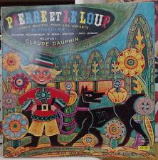 """PIERRE ET LE LOUP CLAUDE DAUPHIN FRENCH LP 10"""" DISQUES ADES LE PETIT MENESTREL"""