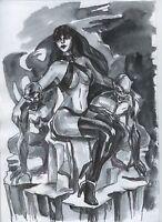 a01259 Original art Vampirella drawing by Ladin ⭐AlbertStoneGallery⭐ comics