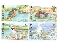 Guernsey Water Birds-Europa set of 4 mnh-Kingfisher etc