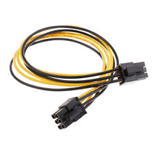 6 Pin Male to 6 Pin Male PCI-E GPU Video Card Power Extension Adapter Cable 62cm