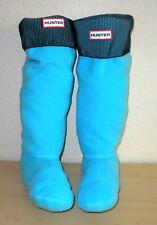 Hunter L Blue Black Fleece Welly Boot Socks Tall Hunter Boots Women Shoe 8-10