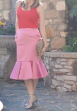 Nwt JCREW Collection Fluted Skirt In Italian Satin F6987 Sz 0 RARE!