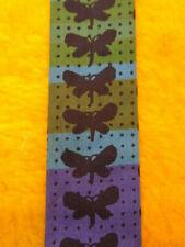 """1960s Vintage Rooster Beatnik ~ Square End Skinny Mens Tie ~ Butterflies ~ 52"""""""