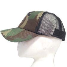Woodland Camouflage Camo Fishing Hunting Baseball Peak Peaked Half Mesh Cap Hat