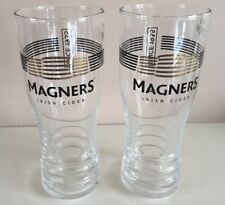 NEW 2 X  MAGNERS CIDER PINT GLASES CE MARKED BAR GIFT MAN CAVE