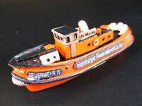 Buque Bote Fuego Bomberos 9,5 CM Polyresin Ship Modelo, Nuevo