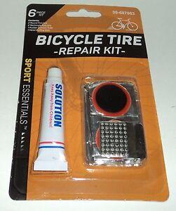 SPORTS Essentials MOMENTUM 6 Pièce Bicyclette Pneu Réparation Kit Emploi Dos