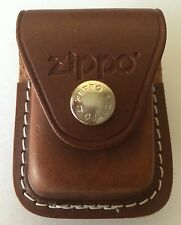 Zippo Zo17020 Lighter Pouch Brown Leather Attaches to Belt W/ Clip Light