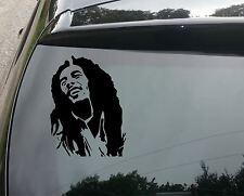 Grand Bob Marley Silhouette Voiture / Pare-chocs JDM VW Euro Autocollant Vinyle Autocollant 300mm
