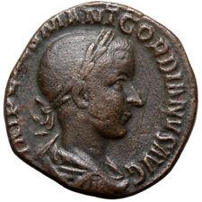 ROMAN COIN AE SESTERTIUS GORDIAN III ROME VIRTVS AVG S.C 238-244 AD