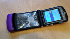 Motorola RAZR V3i Purple / Lila + foliert + Klapphandy + ohne Simlock *WIE NEU*