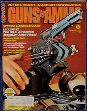 Magazine GUNS & AMMO February 1977 LUGER 1909 ROYAL Portuguese Army 7.65 PISTOL