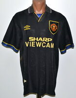 MANCHESTER UNITED 1993/1994/1995 AWAY FOOTBALL SHIRT JERSEY UMBRO SIZE L ADULT