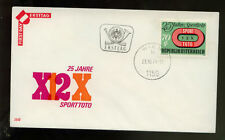 Austria 1974 Football Pools FDC #338