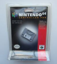 Nintendo 64 N64 Memory Card Controller Pak OEM Official Blister NEW CIB Pack HTF