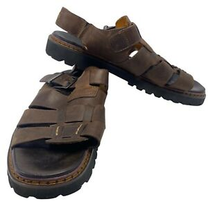 Timberland Brown Open Toe Leather Buckle Fisherman Sandals 13 Mens