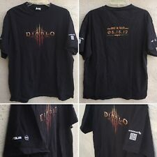 Diablo III Evil Is Back 05-15-12 T-Shirt Maingear Asus Intel Sz XL