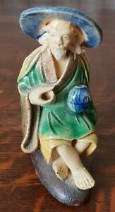 Chinese Mudman Figure Of Fisherman c.1920