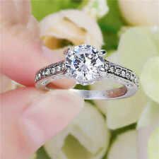 Percious Size 7 Fashion white 10kt gold filled White Sapphire Wedding Ring