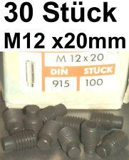 30 Madenschrauben Schraube M12x20 Schrauben Gewindestifte Zapfen Madenschraube