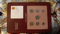 Coin Sets of All Nations Israel 7 coin w/card 1980 - 1983 UNC 1 Sheqal 1981