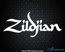 "Zildjian Car Decal / Laptop Sticker - WHITE 8"""