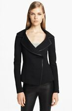 NWT Donna Karan Collection Leather Trim Structured Jersey Jacket (US/6) $1,695