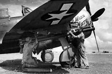 WWII B&W Photo P-47 Thunderbolt Rockets 1944  WW2 /5070