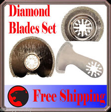 3 Diamond Oscillating Multi Tool Blade For Fein Multimaster Bosch Makita Ridgid