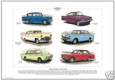 Classic Fords of The 60s Fine Art Print - Classic Capri Anglia Cortina Corsair