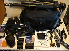 Canon XL H1A MiniDV HD Camcorder Kata Bag Light Mic Tripod 32GB Remote AV Lanc