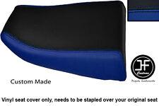 R BLUE & BLACK VINYL CUSTOM FITS KAWASAKI NINJA ZX6R 600 95-97 REAR SEAT COVER