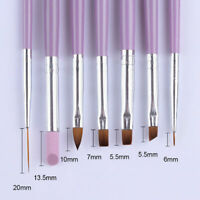 7Pcs/Set Acrylic Nail Art Pen Tips Builder UV Gel Painting Brush  Tool