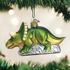 Old World Christmas Triceratops Dinosaur Christmas Ornament 12498