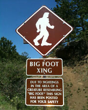 Bigfoot Big Foot Sasquatch Yeti XING Creature Beast Sign American Folklore Photo
