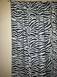 "Cotton Zebra Print Curtain Panel 58"" Wide Stage/Photography Backdrop"