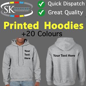 Your Text Logo Here Printed Hoody Hoodie Mens Ladies Jumper Print Personalised
