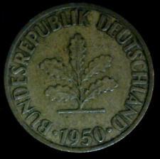 """1950 Germany """"J""""   10 Pfennig  coin"""