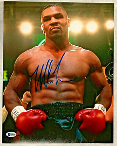 Mike Tyson Autographed 11x14 Boxing Photo Signed Beckett BAS COA