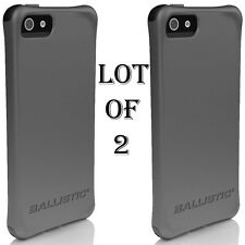 2 LOT - Ballistic AGF Smooth Series Case for iPhone 5/5S SE w/Color Bumper Shock