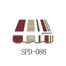5,38X3m Markisenstoff Markisentuch mit UV-Schutz fertig genäht neu SPD088