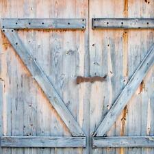 Old Wood Distressed Boards Rustic Country Barn Doors Fabric Bath Shower Curtain