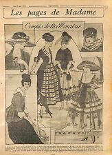 Grande cloche gros grain robes Redingote de Faille Mode Paris Fashion WWI 1916
