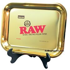 2017 RAW Rolling Papers 24 KARAT GOLD TRAY Extra Large Size - RARE and LIMITED